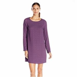 Prana CeCe long sleeve aztec print dress purple S